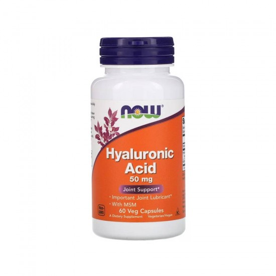 Hyaluronic Acid 50 мг 60 кап Now Foods