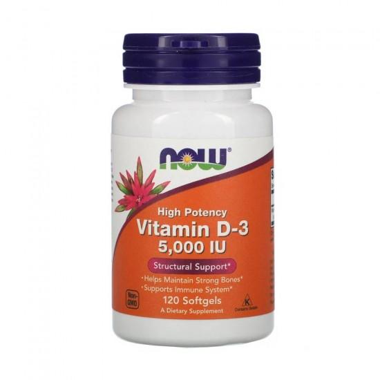 Vitamin D-3 5000 МЕ 120 кап NOW Foods